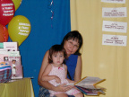 Alliah and Kohum at the Trade Show - August 11, 2001