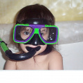 Alliah's new goggles - April 28, 2002