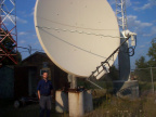 The 3.8 metre dish at the Sioux Lookout watertower