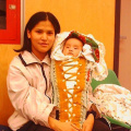 "The youngest community member Cornell or ""Power"" enjoyed the celebration with his mon Cheyenne."