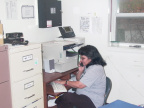 DL Nursing Station Referral Clerk Helen Sawanas at      work
