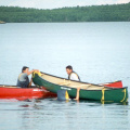 Canoe Rescue Session - Jeff & Jesse getting the canoe