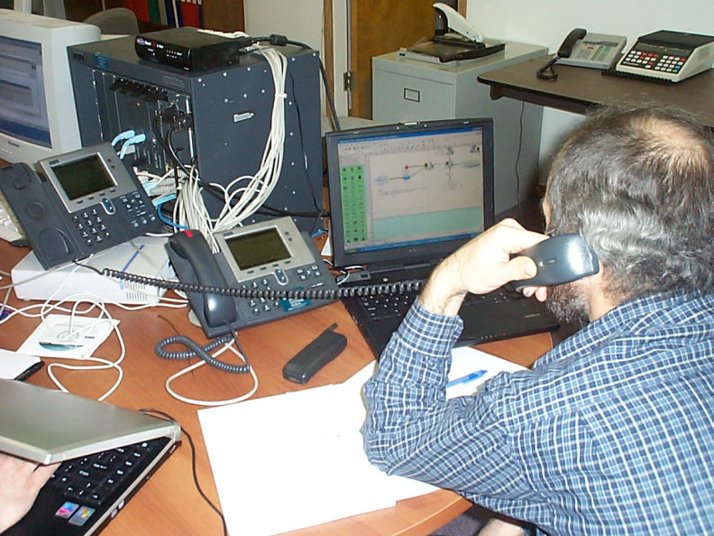 Dan is using the IP phone to connect directly into Dan Brabrand's head office in Virginia