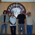 Finally a group picture of the Keewaywin e-Center Staff.