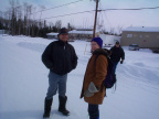 And to the right is our community Mental Health Worker Lawrence Mason. Beside him is the Psychiatrist who visited Keewaywin for