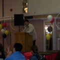 Special guest former NHL coach Ted Nolan congradulated the youth achievers