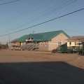 Fort Severn Band office (on the right) and Nursing station