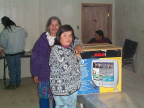 This is Brianna Meekis who won a new 19 inch tv in a raffle.