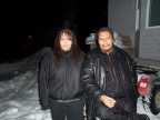 This is my buddie Chimo and his sister Lisa Meekis. My two buddies.