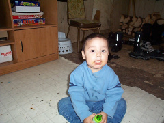 This is Seven of Keewaywin. Stephanie's son.