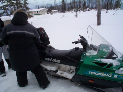 Last minute preparations are needed to make sure everything is in working order. That everything is tied up to the skidoo.