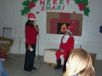 "Grades 4, 5 & 6 doing a play on ""couch potato santa"""