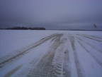 Here's a picture of the Ice Road just coming into North Spirit Lake.(scary)
