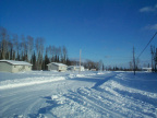 One of those houses belong to my buddy Chimo. A look at one of the roads in Keewaywin