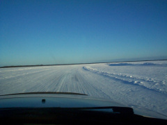 Here we are cruising on the winter road.