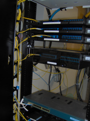 Another view of the fiber patch panels at the MeetMee room