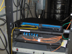 The fiber patch panel is located at the library roof and connects back to the MeetMe room