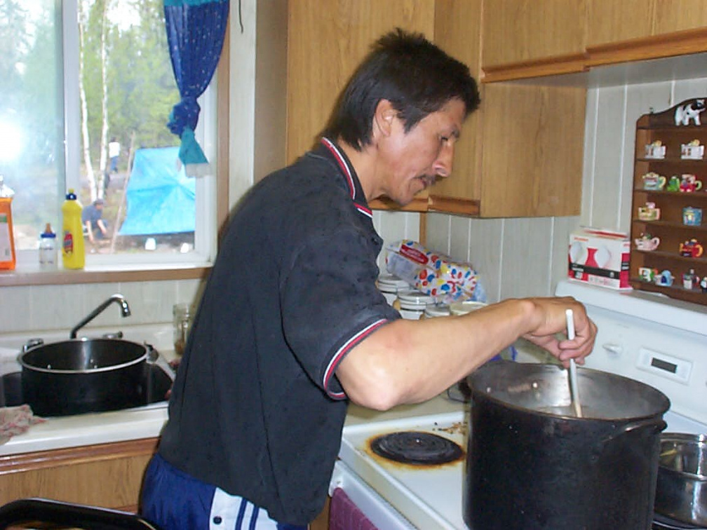 Willy stirring the soup for the Feast