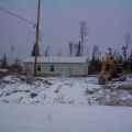 A view of our upcoming new community centre. Look at the snow and its here to stay.