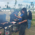 And this is our Jamboree guy cooking burgers. Lloyd Kakepetum and he is an artist as well.