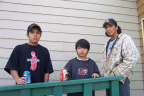 And these are the Kakepetums of Keewaywin. Some of them. Thats (on the left)Rocco, Aaron and Conroy