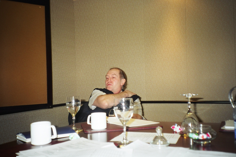Brian Beaton, taking the time to relax back, but still is LISTENING...