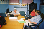 CWIRP meeting with Brian Beaton (Coordinator, K-Net Services), K-Net Services HQ, Sioux Lookout