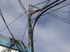 Fiber on the pole in Attawapiskat