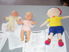 Here are a few of the doll's that will be used in aiding the learning process of CPR'ing infants.