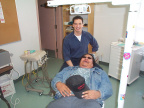 And here is Dennis the Dentist with Roland fooling around while I told them to pose for me. As this is the first time Keewaywin