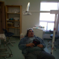 And this is Roland Meekis, he is not the patient (Yet), but i told him to pose for me on the chair.