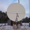 The C-Band dish in Sioux Lookout with the new Linkway system installed on Nov 13, 2002