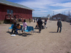 During the afternoon, we had games for the kids over at the school grounds. Here the kids are playing musical chairs. Even one o