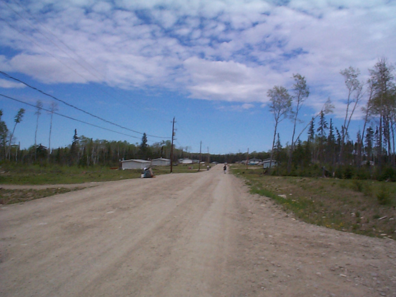A view of a Keewaywin Road.