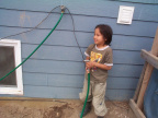 And another little helper, Terrance Dunsford. I think hes gonna wash the house.
