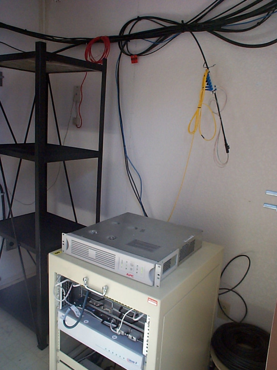 The Linkway satellite units and the fibre optic cabling providing the broadband solution