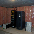 "The ""K-Net Corner"" in the Sioux Lookout Library basement. The server rack will eventually be home for the essential se"