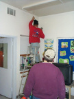 The installation of the cable modem at the Elementary School.