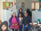 Here's a bit of a group photo with two of our elders and of course our E-Centre manager Darlene Rae.