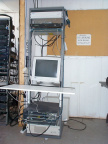 Network equipment rack installed by Blair Electronics.